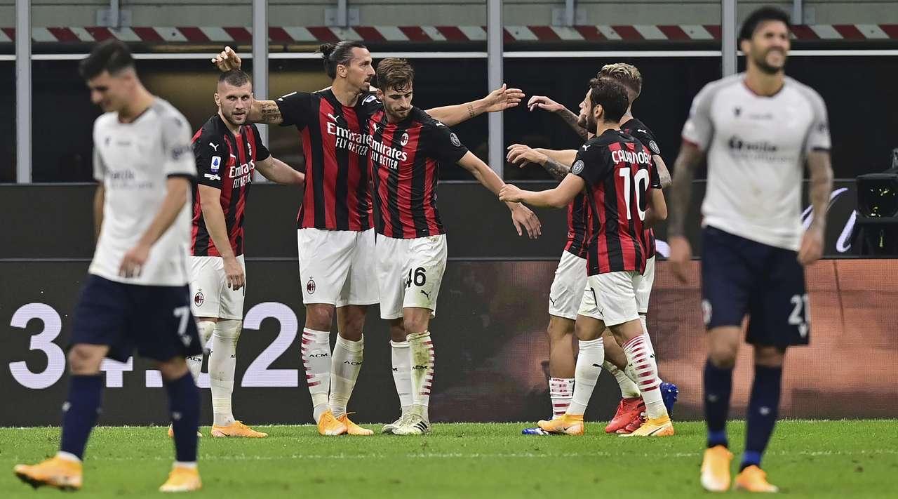 AC Milan vs Bologna (Serie A) Highlights. September 21, 2020