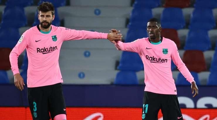 Bir gol ağzı karıştırıldıktan sonra, top Ousmane Dembele'ye (Barcelona) geri döndü ve topu yakın mesafeden doğrudan sol üst köşeye gömdü.