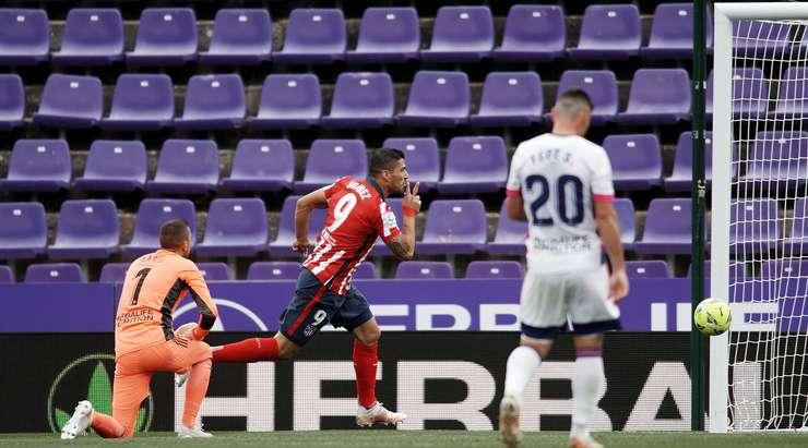 Luis Suarez (Atl. Madrid) harika bir solo koşu yapıyor ve tetiği kutunun içinden çekerek Jordi Masip'i sol alt köşeye bir vuruşla yeniyor. 1: 2 yapıyor.