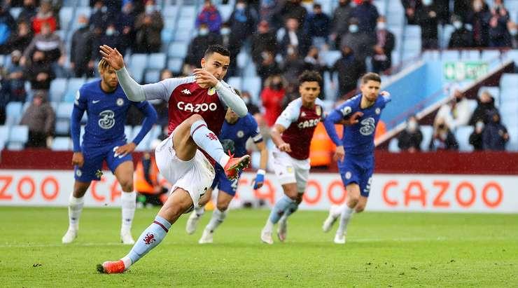 Hedef! Anwar El-Ghazi (Aston Villa), sağ direğin içine giren hassas bir vuruşla penaltıyı evine vurdu.