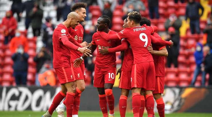 Hedef! Mohamed Salah, kutunun içinden sapan şutu çaresiz Guaita'yı geçen Sadio Mane'ye (Liverpool) oynuyor. 2: 0.